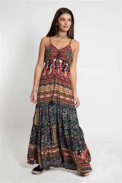 Vestido Largo Damasco